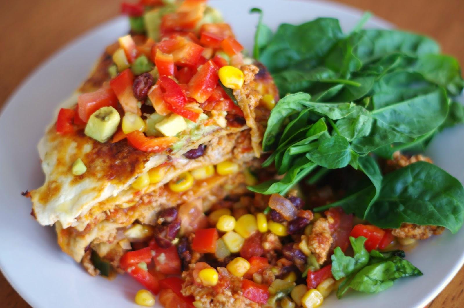Spicy Mexican Chicken Tortilla Pie Mexican Lasagna