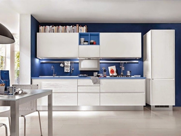Modern Kitchen Units modern white gloss kitchen units combined with other colors