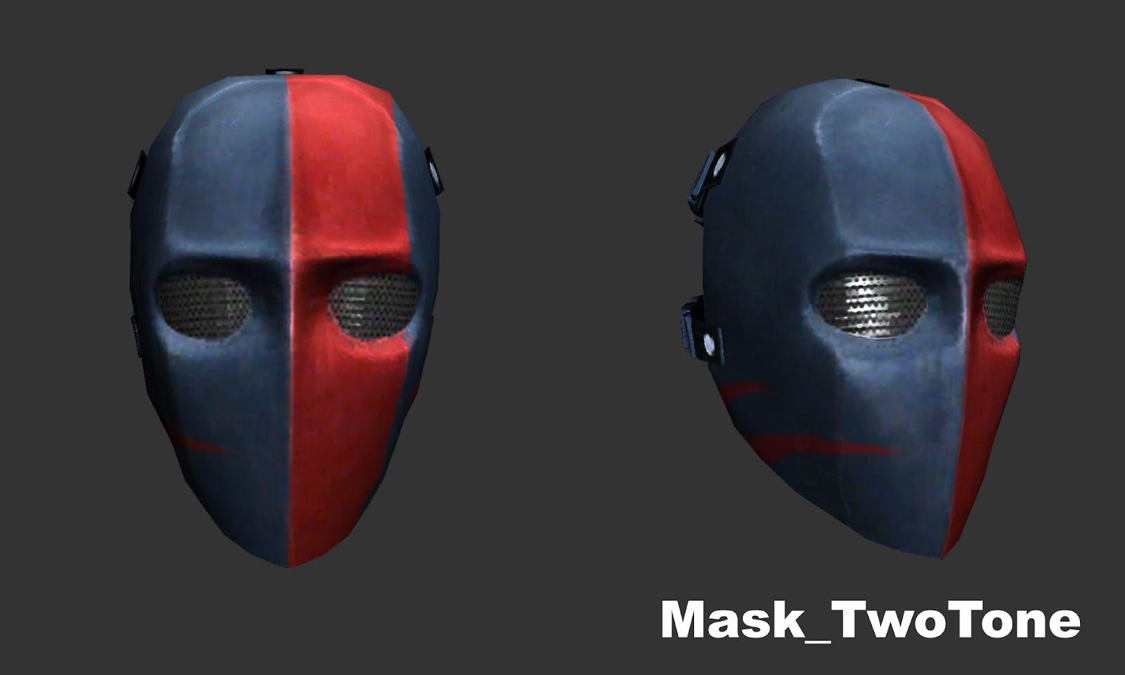 Mask TwoTone mempunyai perpaduan 2 warna yaitu abu-abu dan merah ...