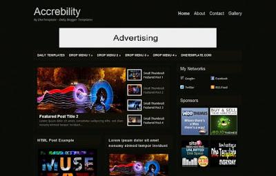 blogger template accrebility