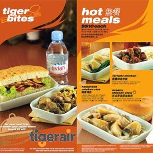 bữa ăn tiger air
