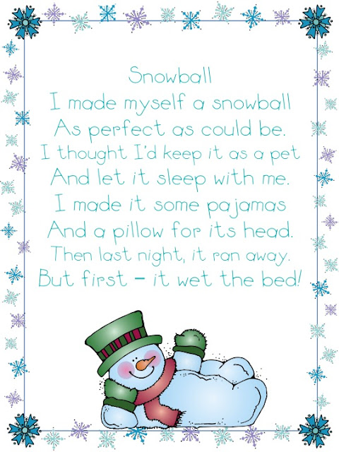 Here's a funny winter poem for you . . .