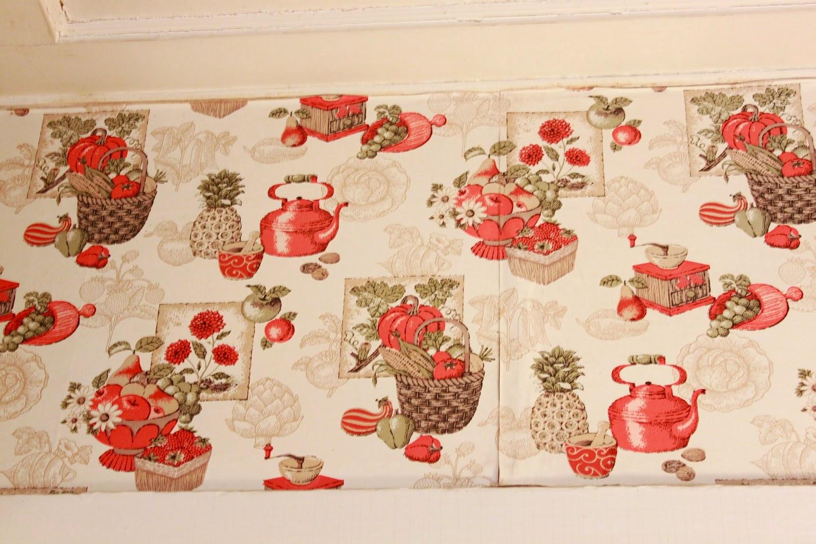Vintage kitchen wallpaper patterns - Beneath The Tea Kettle Wallpaper