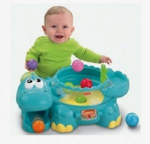 Amazon: Buy Fisher-Price Go Baby Go Poppity Pop Muscial Dino at Rs.1200