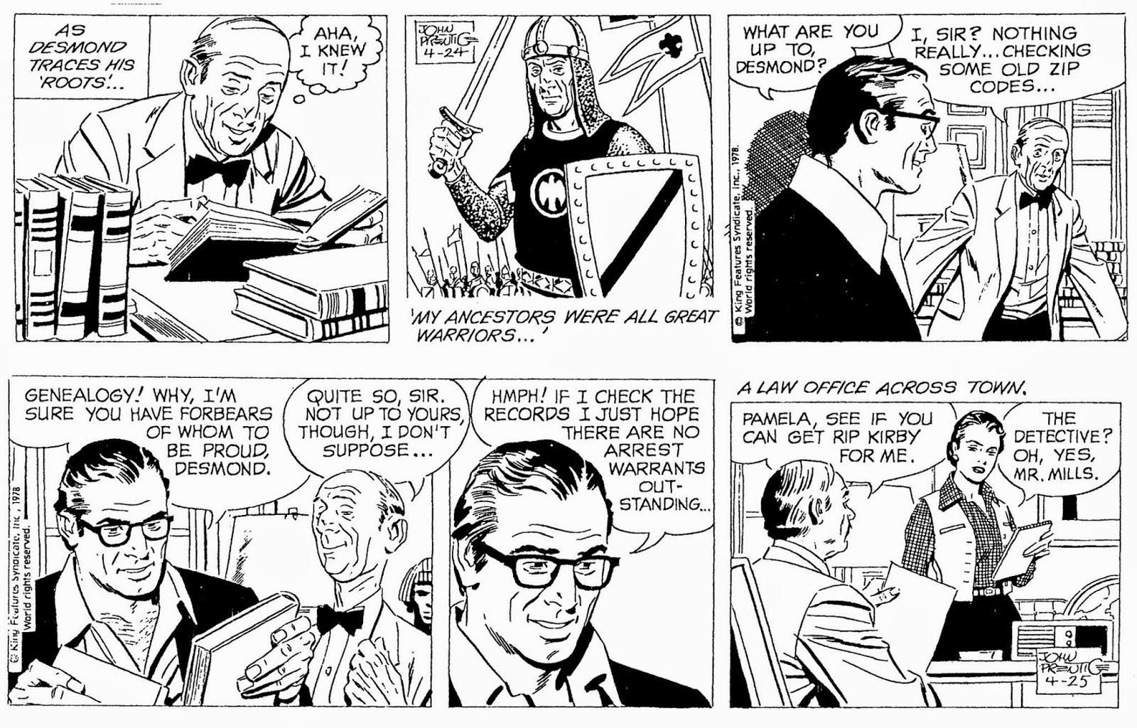 Rip kirby newspaper strip archive