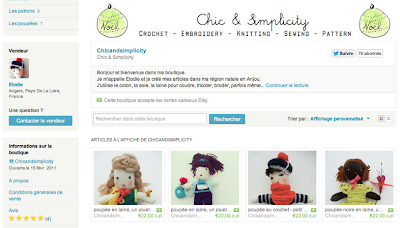 boutique Noël Etsy