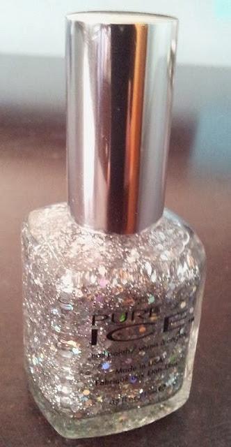 silver glitter polish