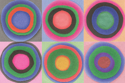 Six layered circles