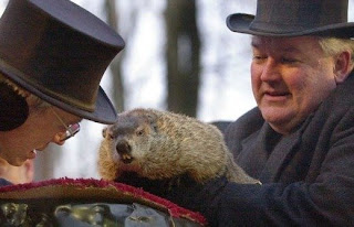 Punxsutawney Phil and Bill Deeley