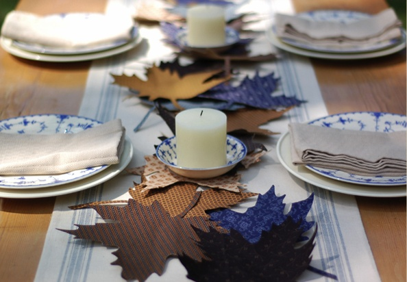 Home made modern 10 fall decorating ideas for blue rooms Modern fall table decorations