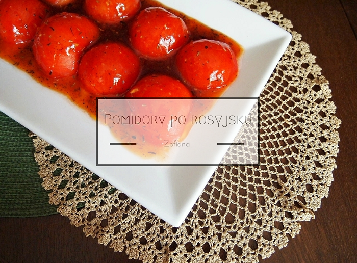 Tomatoes sweet and sour sauce