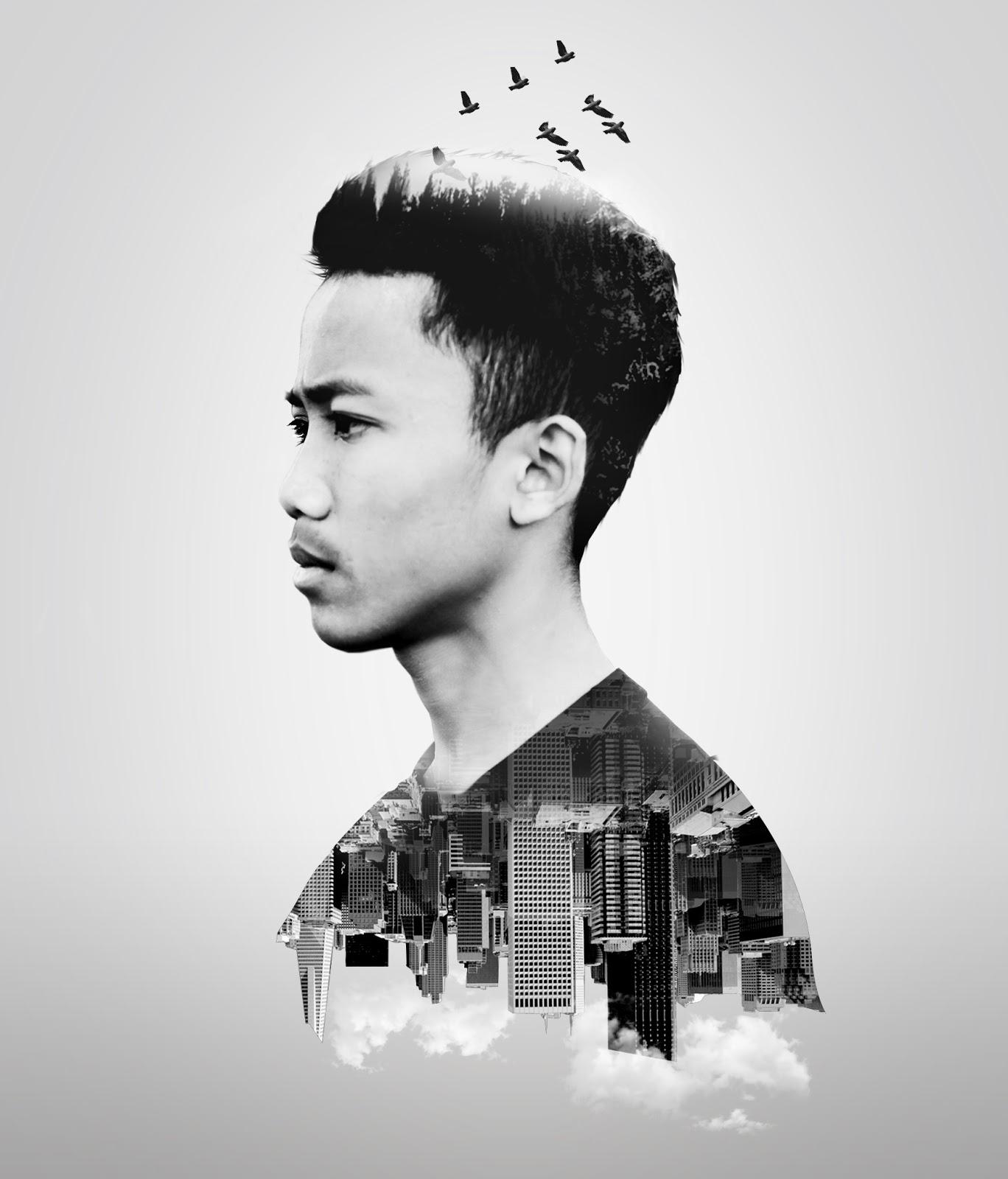 Tutorial Photoshop Double Exposure Portrait   Kang Eza