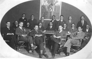 Participantes en el I Campeonato del Club Ajedrez Manresa en 1929