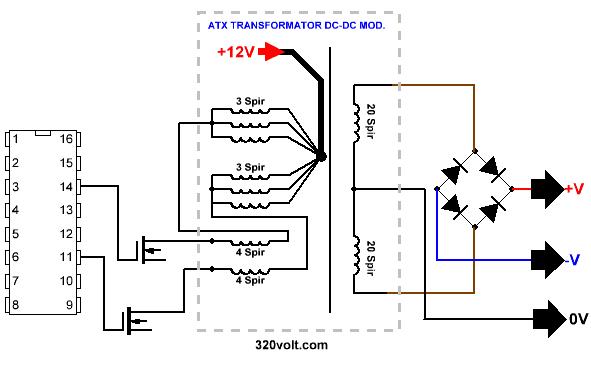 dc dc converter 200w sg3524 sg3525 2x30v