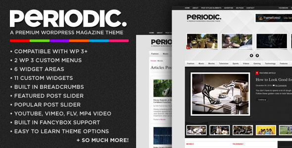 Periodic - Magazine WordPress Theme Free Download by ThemeForest.
