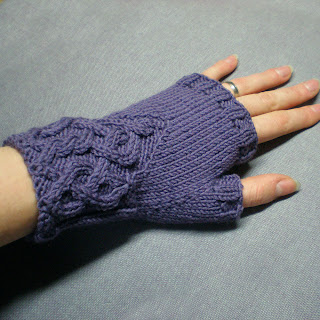 purple fingerless gloves wrist warmers arm warmers