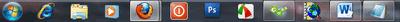 Icon program di taskbar