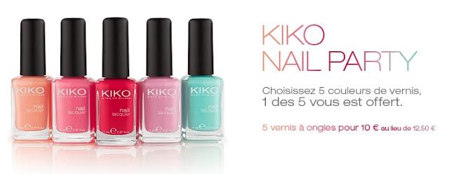 Kiko.fr: 5 vernis de qualité pour 10€ + fdp offert