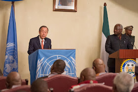BAN KI MOON VISITS SIERRA LEONE
