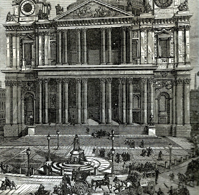 Engraving of St Paul's Cathedral from 1880s