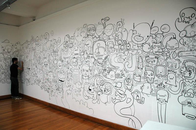 Pennarelli per graffiti su muro