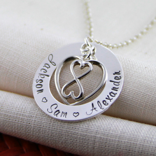 Infinity Heart Necklace Picture