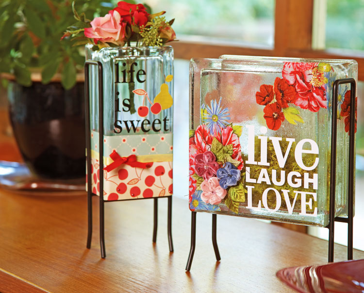 Ben franklin crafts and frame shop inspiration glass blocks for Glass block crafts pictures