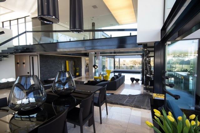Photo of black furniture in dinning room