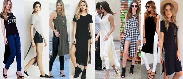 Elongated blouses With Slit Kendall Jenner