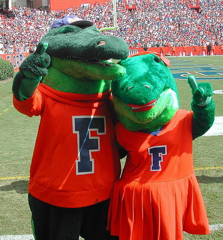 Albert and Alberta Florida Gators Mascot