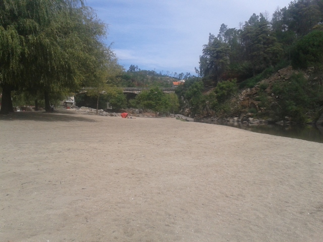 Areal da Praia de caldas de Sangemil