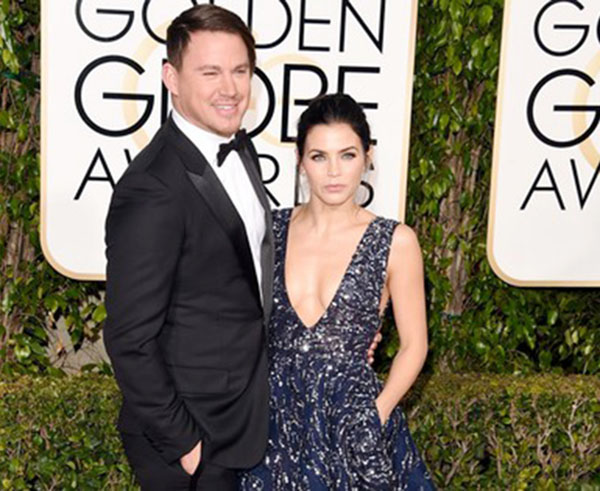 Channing Hairstyle at the golden globes in 2016