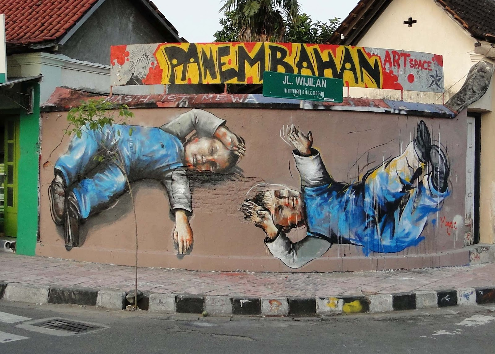 Fintan magee new murals in indonesia streetartnews for Mural indonesia
