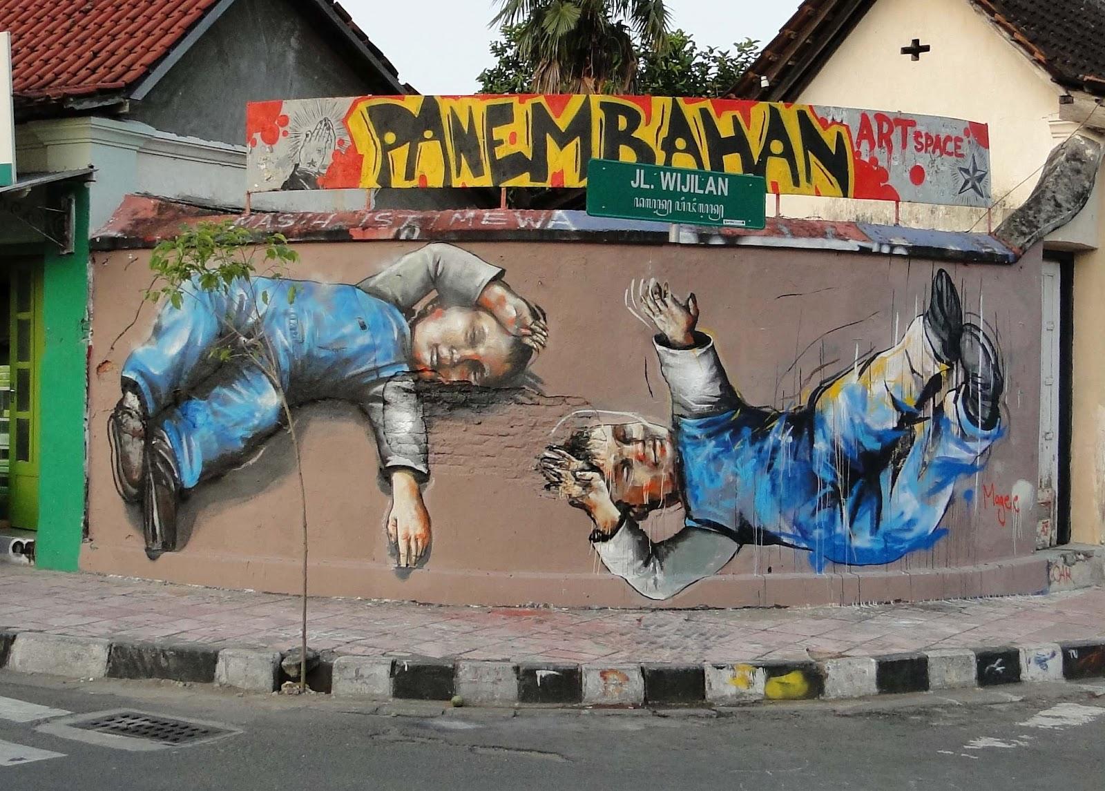 fintan magee new murals in indonesia streetartnews