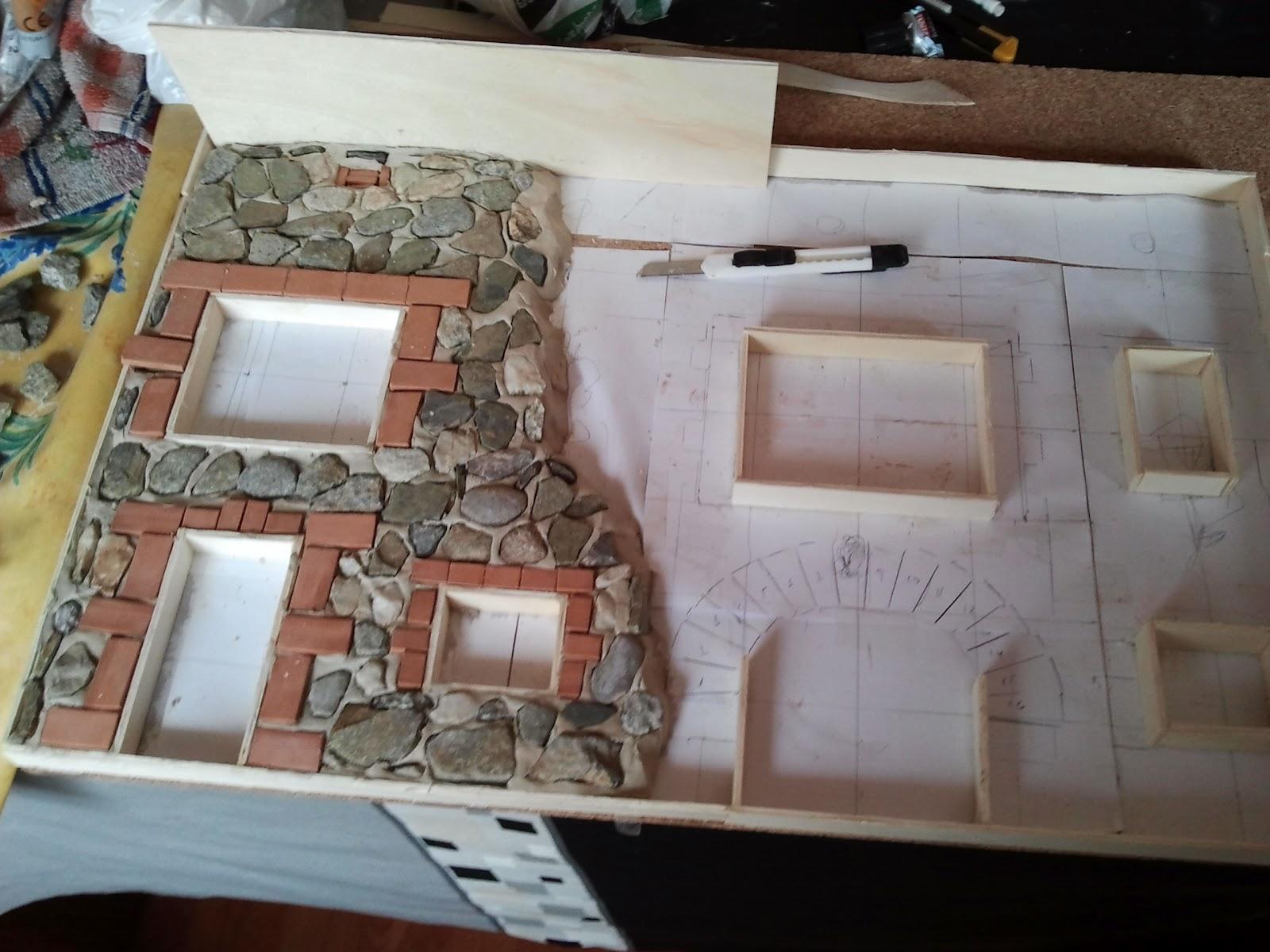 Creaciones y manualidades mi hobby manualidades fachada for Cuadros hechos con piedras