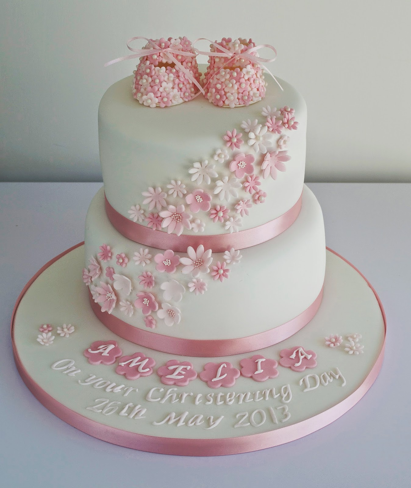 Christening Cake Design For Baby Girl : Sugar Ruffles, Elegant Wedding Cakes. Barrow in Furness ...