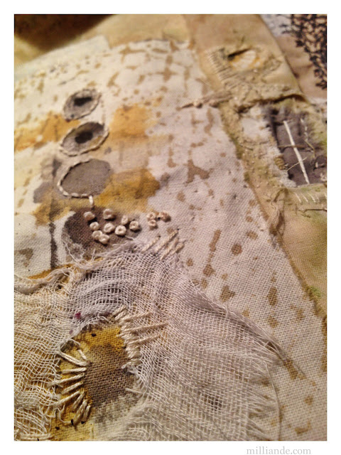 Extraordinary Window Views - UnRuly Cloth & Canvas milliande.com  #textiles #cloth stitch #fibre #art