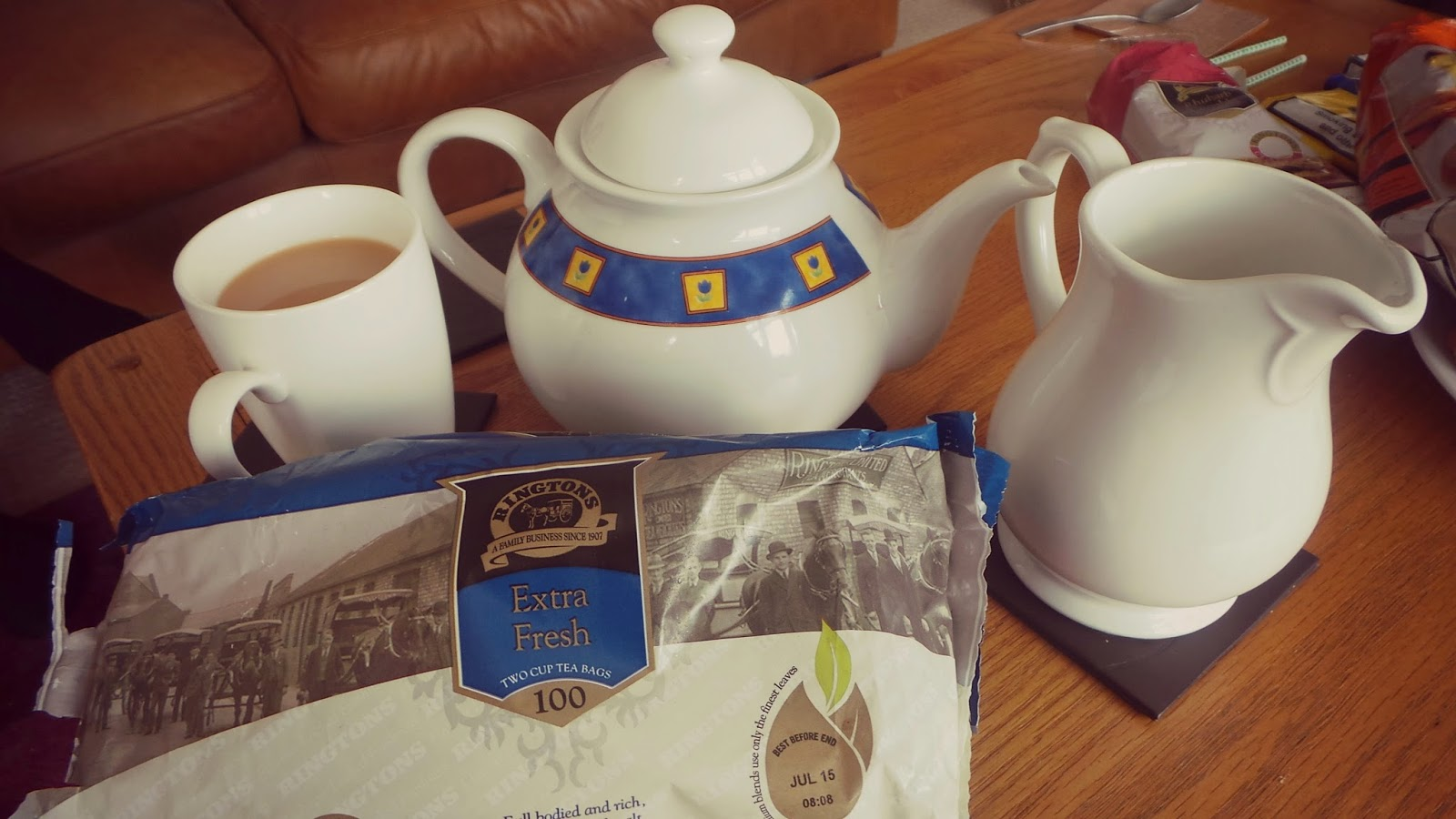 bloggers holiday with tea