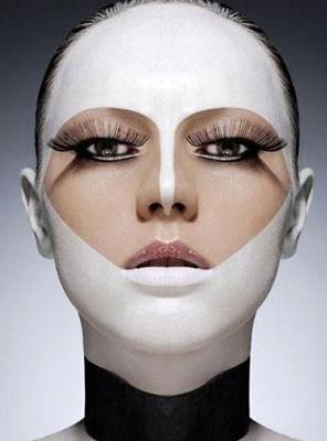 La máscara para la persona de los puntos negros de la manzanilla