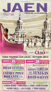 Feria de San Lucas - Jaén 2013 - Cartel Taurino