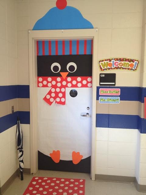 Στολισμός σχολικής πόρτας-Πιγκουίνος