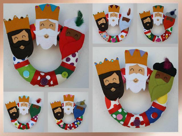 Coronas de Reyes Magos para adornar la puerta de casa