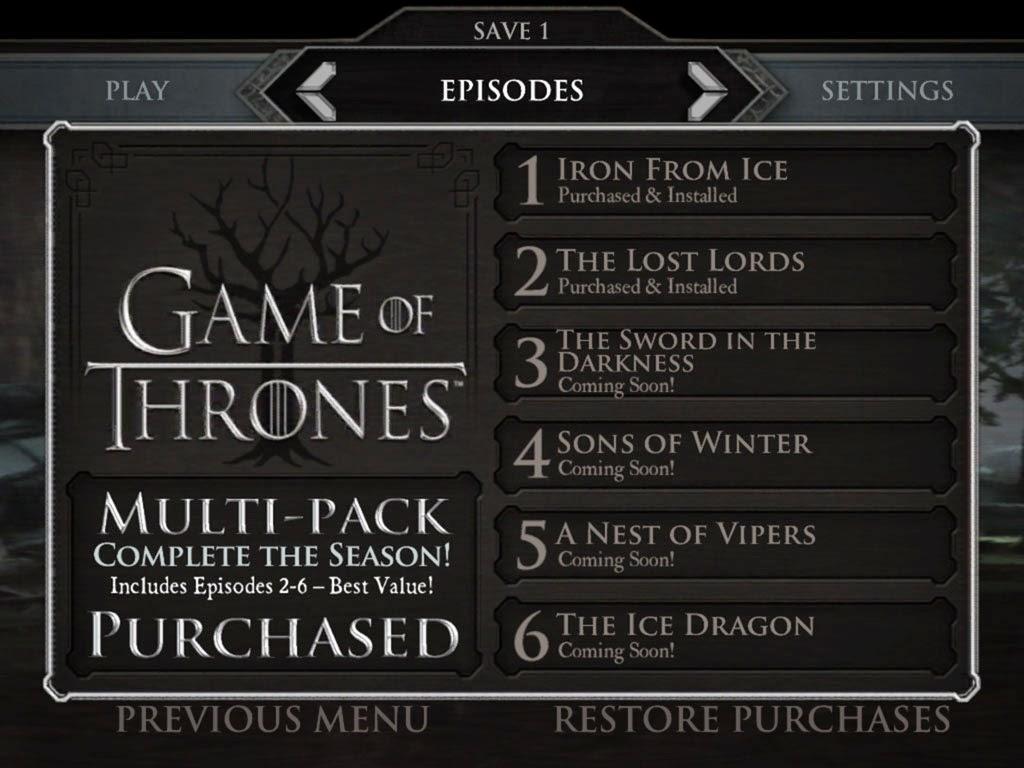 [HACK] Game of Thrones - A Telltale Games Series  iOS IMG_2176