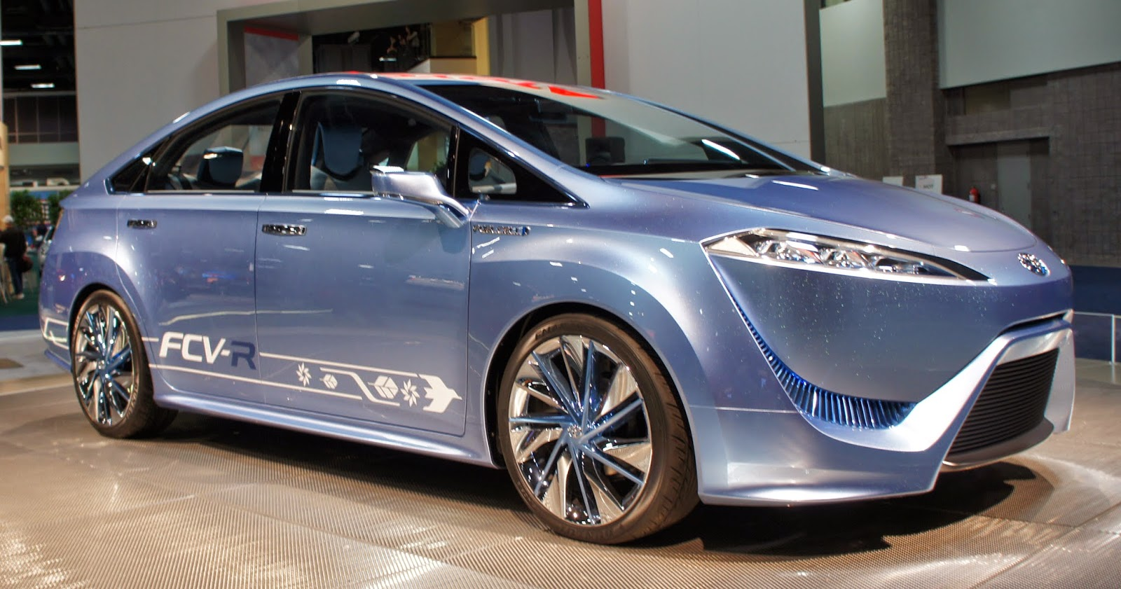 The Toyota FCV-R concept car was exhibited at the 2012 Washington Auto Show.