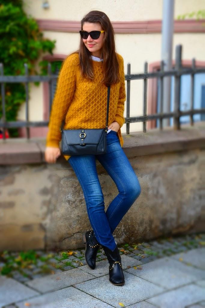 Oversized jumper, mustard jumper