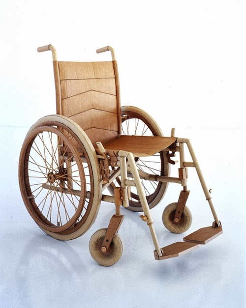 12-Wheel-Chair-Life-Size-Chris-Gilmour-Cardboard-Sculptures-www-designstack-co