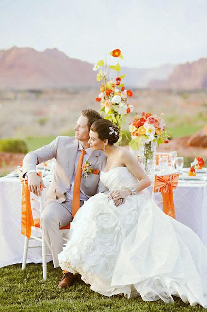 Decoração para casamentos durante o dia.