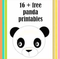 21 free printable panda gifts cards and toys ausdruckbare Pandas