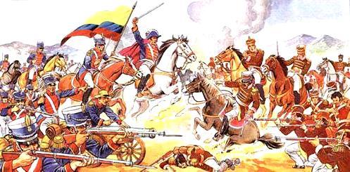 Representación de la Batalla de Pichincha