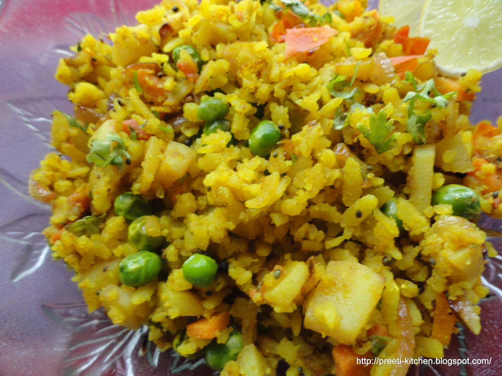 Vegetable Poha ~ Simply TADKA